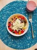 "SHIHO、""最高に美味しかった""自作のサラダを紹介「かなりお気に入り」"
