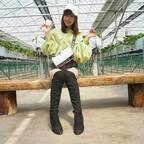 山川恵里佳、夫・モンキッキーらとイチゴ狩り「今年も行ってきたよ」