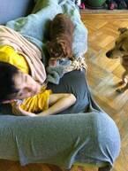 野沢直子、愛犬に襲撃される息子を激写「ここはうちらのなわばりだもんねー」