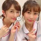 小松彩夏『白衣の戦士!』のナース姿を公開「嬉しくて思わずパシャリ!!」