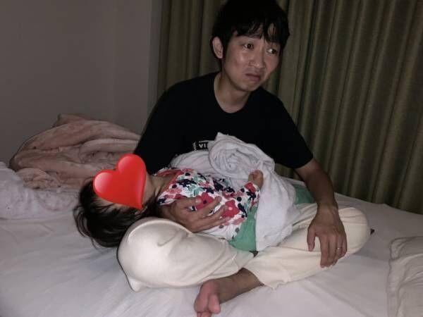 ノンスタ石田、双子の寝かしつけに奮闘する姿に「イクメン」「がんばれー!!」の声