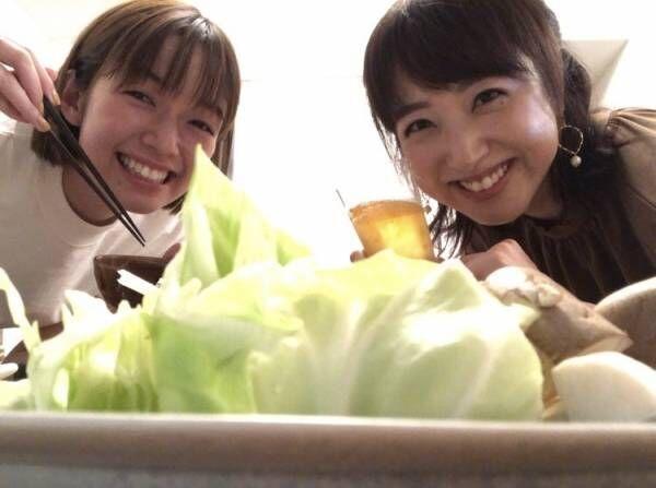 川田裕美アナ、佐藤栞里との2ショットを公開も「キャベツしか写ってない…」