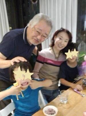 三田佳子、孫の家に立ち寄り元気を貰う「弾けるエネルギー!!」