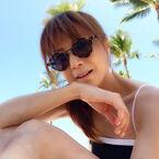 hitomi、家族とのんびり過ごすハワイ旅行「明日の予定も未定!!」