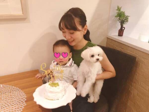 保田圭、息子の1歳半を手作りケーキでお祝い「やっぱり嬉しいなぁ」
