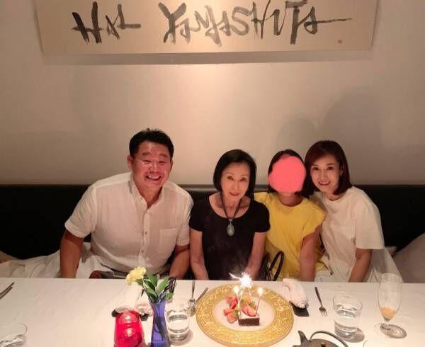 花田虎上、母・藤田紀子の誕生日を家族と祝福「これからも健康に過ごして頂きたい」