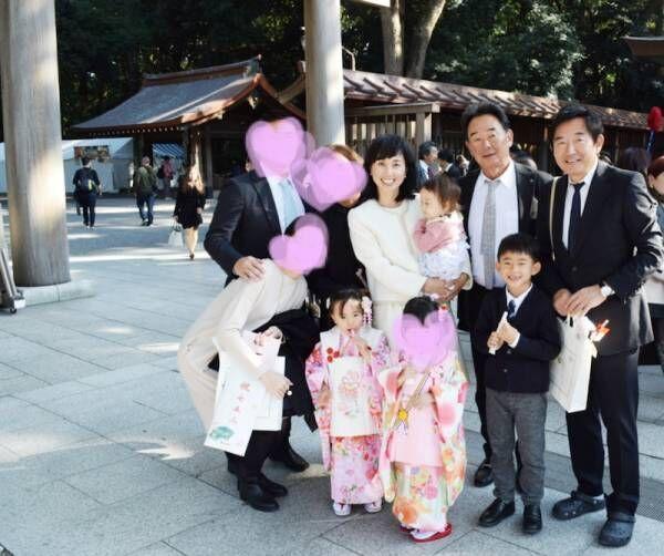 東尾理子、長女の七五三を報告「素敵」「とっても可愛い」の声