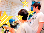 よしお兄さん、家族で帰省し夕食の準備を手伝い「母の天ぷら、好きです」