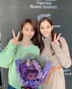 矢田亜希子、新木優子との2ショット披露「卵 かと思うほどの小顔!」