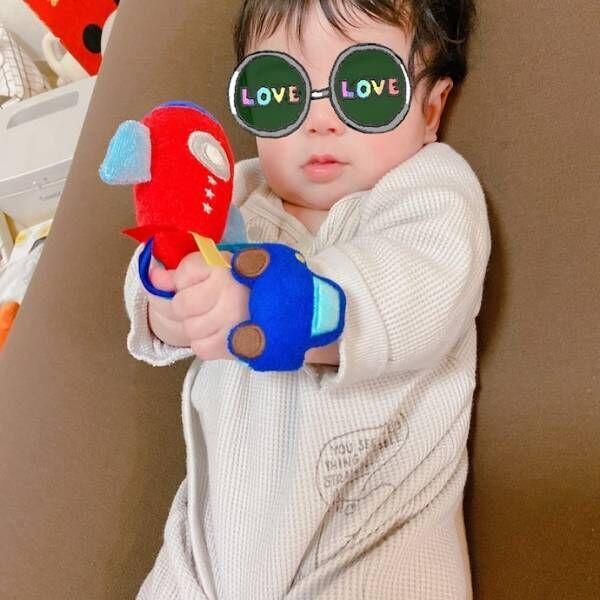 矢口真里、息子へのバレンタインのプレゼント「早速遊んでます」