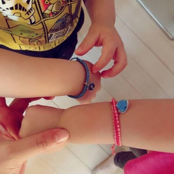 平原綾香、甥と姪にアクセサリーを手作り「忙しいおばでございます!」