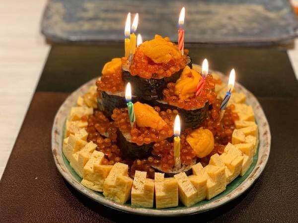 薬丸裕英、54歳の誕生日祝いにサプライズで寿司ケーキ「何事も前向きに捉えて」
