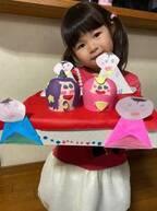 はんにゃ・川島の妻、娘の手作りひな人形を公開「みんなでお祝いできたらいいな~」
