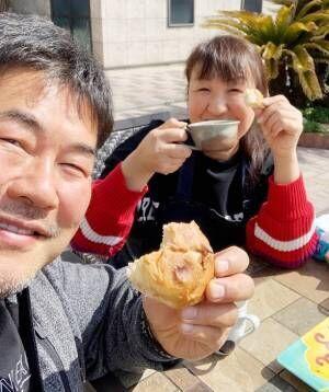 北斗晶、夫・佐々木健介と外で楽しんだ昼食「仲のいいご夫婦」「いい時間」の声