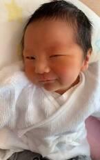 モデル・菊池瑠々、息子に初の沐浴させるも「終始ギャン泣きでした」