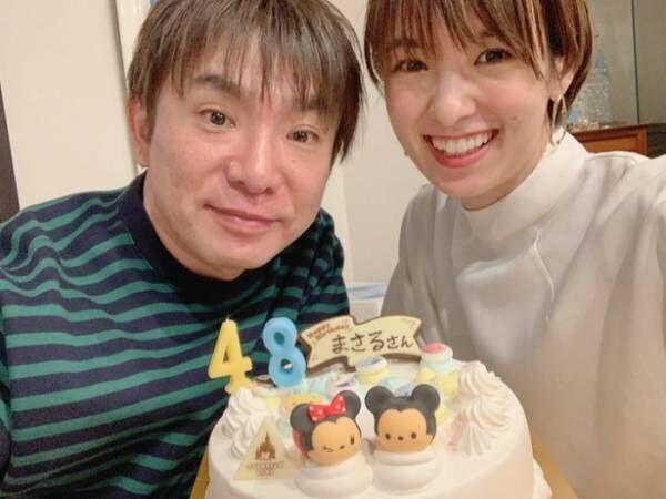 南明奈、夫・濱口優の誕生日を祝福「毎年お誕生日はサーティワンのアイスケーキ」