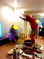 流れ星瀧上の妻・小林礼奈、ママ友と行った節分で娘が号泣「鬼怖すぎ」