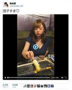 """""""食べる女""""篠崎愛 Twitterの食べカワ画像見たら「戦争なくなる」?"""