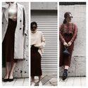 【美シルエットで脚長効果を】ユニクロのIラインスカート秋冬着こなし3選! デイリーブランド着回し3Days #44