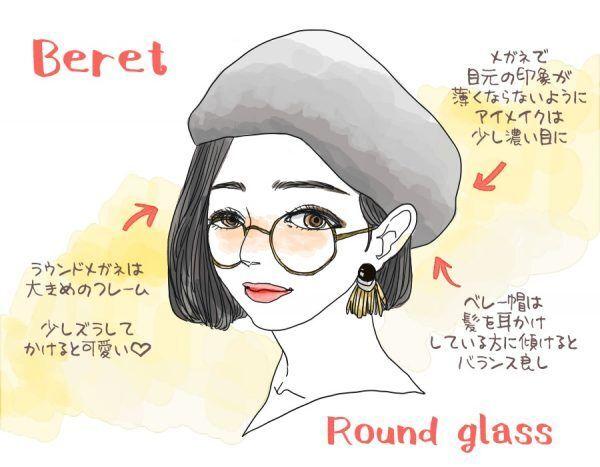 小顔効果アリ…誰でも似合う「帽子×メガネ」の鉄板コーデ3選! スタイリストの体型カバーテクニック術 ♯47