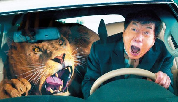 本物のライオンと2人きり!? ジャッキー・チェン新作が豪快!