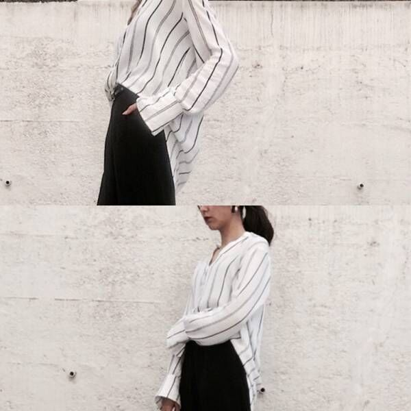 ストライプシャツ「大人の雨の日コーデ」3選 | デイリーアイテムの着回し3Days #27