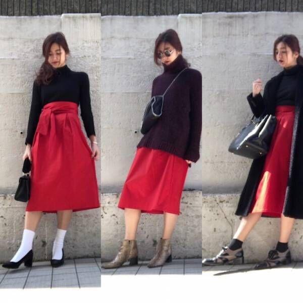 GUのチノスカート… スッキリ細見え! 冬春オトナの着こなし3選 デイリーブランド着回し3Days #59