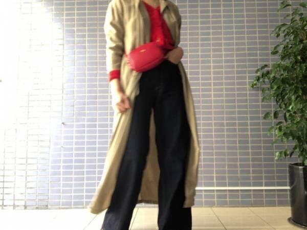 春のロングトレンチコート…大人カジュアルな着こなし3コーデ|デイリーアイテム着回し3Days #64