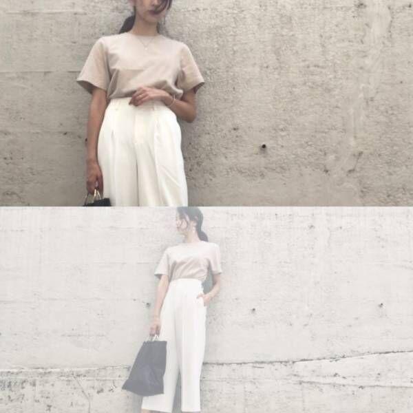 ユニクロのTシャツ…1000円なのに断然高見え! 夏の大人コーデ3選|デイリーブランド着回し3Days #76