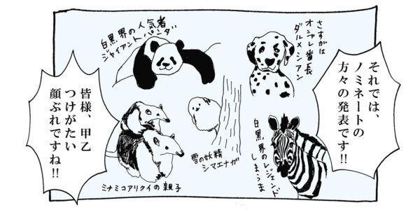 【猫写真4コママンガ】「白黒動物大賞」パンチョとガバチョ #97