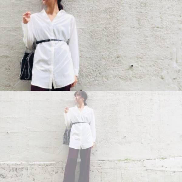 女っぽ急上昇「白シャツ」着回しコーデ! 冬も爽やかモテスタイル3選   デイリーアイテム着回し3Days #96