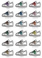今日は何色の靴紐がいい? しいたけ.さんの「カラー心理学」