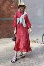 服で気分をup!…「大人の赤ワンピ」は今から自粛明けでも使える!