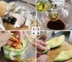 【ボデガカップで作る前菜5種】アボガドとエビと豆腐重ね[PR]