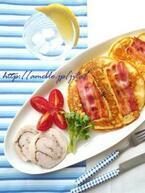 甘くないお食事系!「おかずパンケーキ」朝食レシピ6選