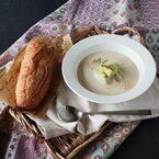 なすでクールダウン♪簡単クリーミー「冷製ごま味噌スープ」