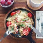 時短でおいしい朝ごはん♪お食事系「パンプディング」レシピ