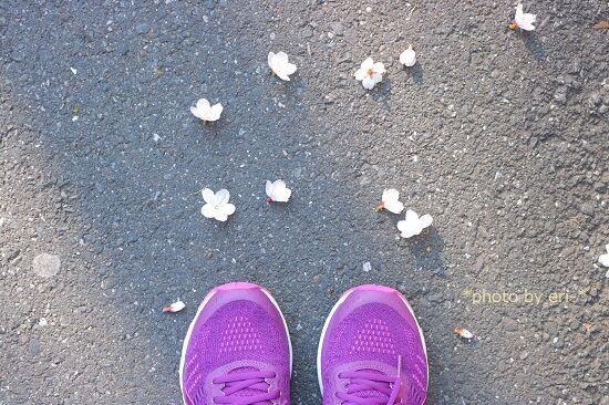 朝のランニングとお花見