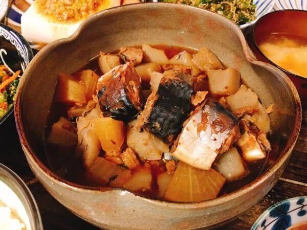 サバ缶とこんにゃくの煮物