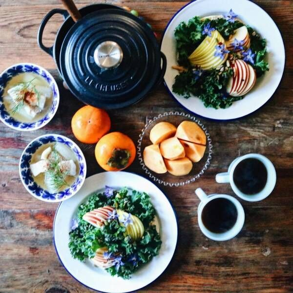 yacocoさんの朝食テーブル