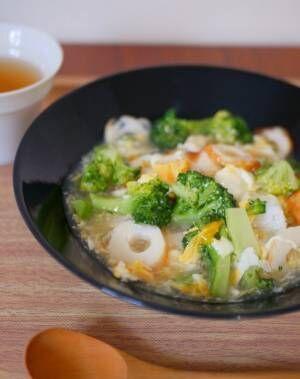 生姜でカラダあたたまる♪朝にお手軽「ちくわとブロッコリーのあんかけ丼」
