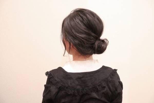 編みおろしヘアを簡単イメチェン!「ギブソンタック風」まとめ髪の作り方