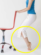 毎朝30回で下半身を細く!椅子を使った「ふくらはぎエクササイズ」