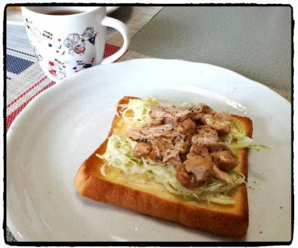 手羽元リメイク!照り焼きパンの朝ごはん