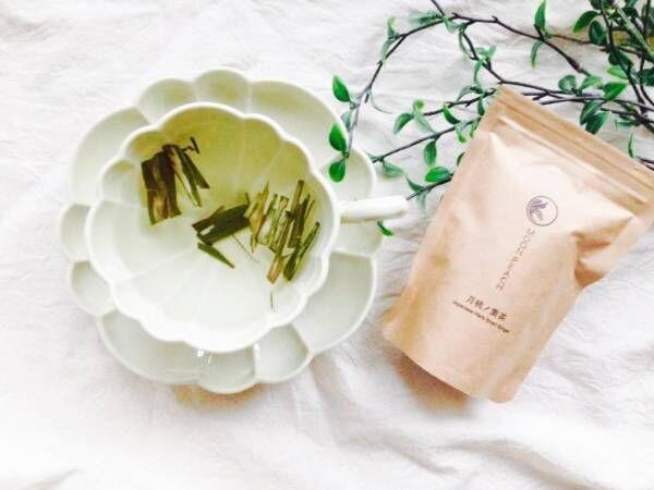 月桃の葉茶入りの白湯