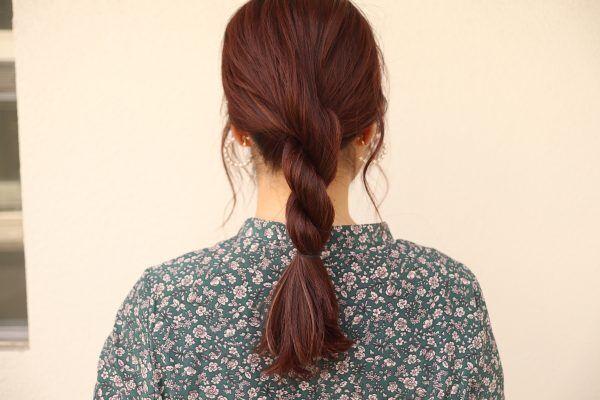 秋のまとめ髪にぴったり!簡単過ぎるの「ロープ編み」でヘアアレンジ