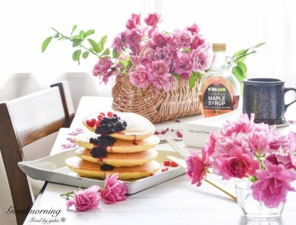 朝美人アンバサダーゆかさんの朝のテーブル