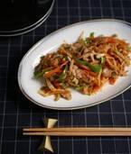 少ない調味料で簡単!ご飯がすすむ「切り干し大根と豚バラのソース炒め」