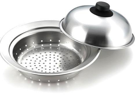 フライパンが蒸し器に早変わり!ヘルシー調理に便利「ヨシカワ 蒸しプレート」