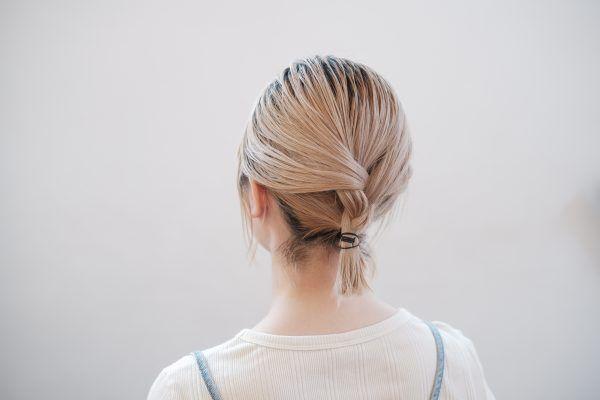 ボブでもロングでも簡単♪三つ編みがかわいい首元すっきりヘアの作り方